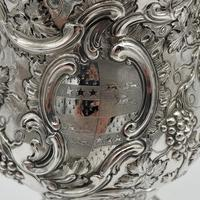Antique George II Large Rococo Silver Cup & Cover London 1755 William Grundy (6 of 12)