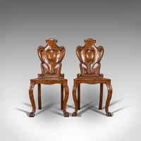 Pair of Antique Shield Back Chairs, Scottish, Oak, Hall Seat, Victorian c.1880 (6 of 12)