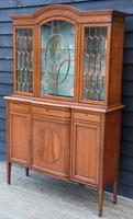 Superb, Fine Quality Edwardian Satinwood Display Cabinet c.1901 (3 of 19)