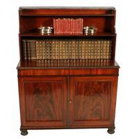 Regency Mahogany Cabinet Bookcase (2 of 8)