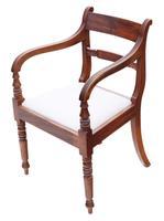 Set of 8 '6+2' Regency Mahogany Dining Chairs 19th Century c.1820 (4 of 13)