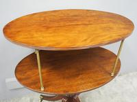 George IV Mahogany Oval Dumbwaiter (3 of 9)