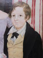 Large Oil on Canvas Portrait of Brother & Sister 1860 (5 of 13)