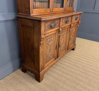 Victorian Carved Oak 3 Door Bookcase (13 of 23)