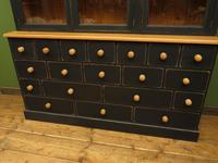 Black Painted Pine Apothecary Cabinet Style Dresser with Multi Drawer Base (3 of 18)