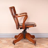 Good Quality Oak Revolving Office Desk Chair (8 of 14)