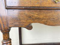 Antique Oak Two Drawer Side Table (6 of 14)