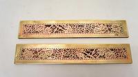 "Pair Tiffany Studios 12"" Brass Plated Desk Set  Blotter Ends 998  Grapevine (10 of 15)"
