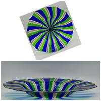 Rare Murano Glass XL Size Platter with Swirled Coloured Stripes (10 of 10)