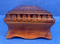 William IV Birch Penwork Jewellery Box (7 of 16)