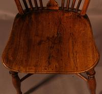 Single Wheel Back Kitchen Windsor Chair in Yew Wood (5 of 6)