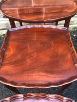 Antique Mahogany Nest of 3 Tables (7 of 8)