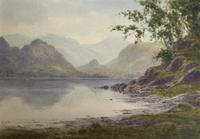 Edward H.Thompson Pair of Wwatercolours of the lake district ' the jaws of borrowdale, derwenter' and   ' eventide,rydal water' (4 of 5)