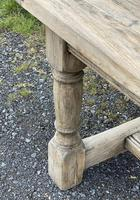 Rustic Bleached Oak French Farmhouse Dining Table (12 of 34)