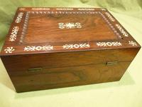 Inlaid Rosewood Table Box / Jewellery Box c.1840 (6 of 12)