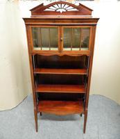 Art Nouveau Mahogany Cabinet Bookcase (2 of 7)