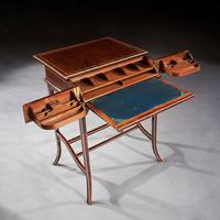 Unusual Early 20th Century French Thuya Wood Metamorphic Writing Table (8 of 13)