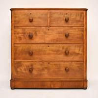 Large Antique Victorian Satinwood Chest of Drawers (2 of 16)