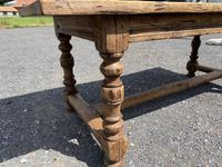 French Rustic Bleached Oak Farmhouse Dining Table (6 of 15)