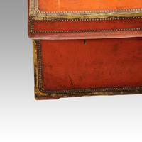 Regency Red Leather Camphorwood Trunk (4 of 8)