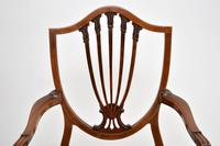 Pair of Antique Mahogany Shield Back Carver Armchairs (7 of 9)
