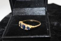 18ct Gold, Diamond & Sapphire Ring, size Q, weighing 2.8g (2 of 5)