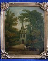 Fine Pair of 18th Century Paintings by J Hill (5 of 9)
