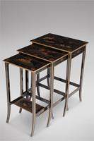 Nest of Three Black Lacquered Tables