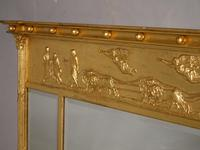A Very Good Regency Period 3 Section Giltwood Mirror (4 of 4)