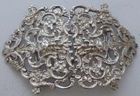 Victorian 1899 Hallmarked Solid Silver Nurses Belt Buckle Charles May of London (2 of 8)
