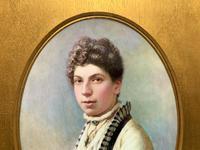 Fine Quality 19th Century Antique English Porcelain Plaque Portrait Painting c.1870 (4 of 11)