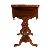 Rosewood Turn Over Top Writing Table (9 of 9)