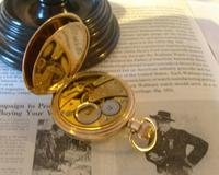 Antique Pocket Watch 1922 Swiss Vertex 7 Jewel Half Hunter 10ct Gold Filled Fwo (9 of 12)