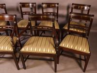 Good Set of 8 Regency Period Dining Chairs in Mahogany (3 of 13)