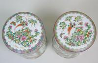Fabulous Large Pair Chinese Famille Rose Opium Jars (7 of 12)