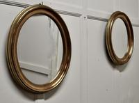 A Trio of French Oval Gilt-wood  Mirrors (4 of 6)