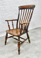 Large Windsor Lathback Armchair c.1890 (6 of 8)