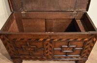 17th Century Oak Geometric Oak Coffer (4 of 8)