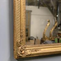 Large French gilt landscape overmantle mirror (2 of 6)