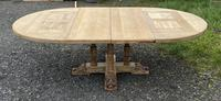 Large Round French Bleached Oak Farmhouse Table with Extensions (31 of 38)
