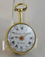 Issac Soret & Fils c.1750 Verge Pocket Watch (4 of 6)