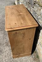 Antique Victorian Stripped Pine Chest of Drawers (6 of 15)