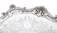 """Antique Victorian Sterling Silver 13"""" Tray / Salver 1850 (6 of 9)"""