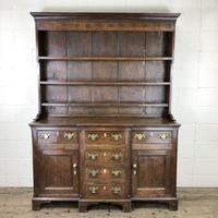 Antique 19th Century Oak Kitchen Dresser (9 of 9)