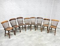 8 x 19th Century Windsor Kitchen Chairs (2 of 9)