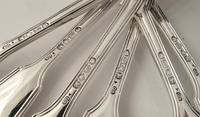 Fine Set of 6 Antique Silver Fiddle & Thread Pattern Dinner Forks George Adams London 1857 (5 of 6)