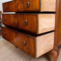 Walnut Chest of Drawers Queen Anne Style c.1920 (8 of 11)