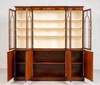 Regency Style 4 Door Breakfront Mahogany Bookcase (7 of 9)