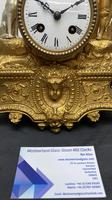Japy Freres Gilt Mantle Clock (5 of 8)