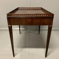Exceptional Georgian silver table with fret gallery top (12 of 13)